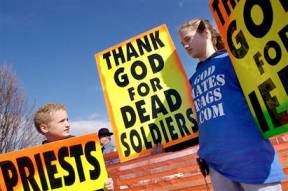 Westboro Baptist Cult Picketing Our Constitutional Rights And Freedoms...