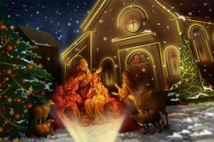 Christmas-Church-Tree-Holiday-Night-433x650
